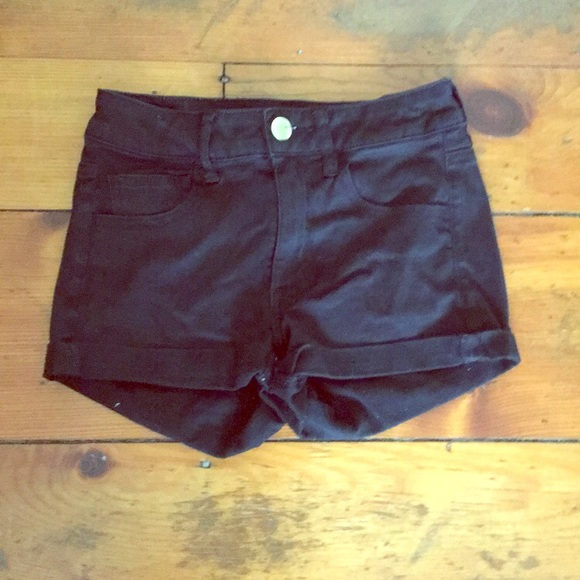 American Eagle Outfitters Pants - Black Short-Shorts